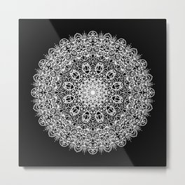 Manadala No. 1 (white) Metal Print