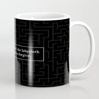 looking for alaska Mugs featuring Labyrinth Quote - Looking for Alaska by Terri