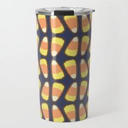 Candy Corn Tango in Navy Travel Mug
