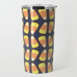 Candy Corn Tango in Navy Travel Mug