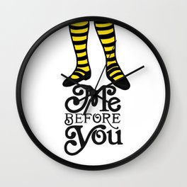 Me Before You Wall Clock