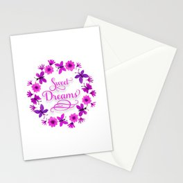 Sweet Dreams - Purple Pink Stationery Cards