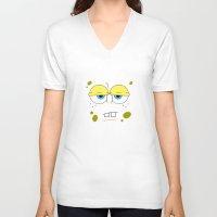 spongebob V-neck T-shirts featuring SpongeBob by Thorin