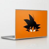 dragonball Laptop & iPad Skins featuring Minimalist Hero #2 GOKU by Tristan Wrobel