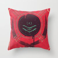 dead space Throw Pillows featuring Dead Space by Hector Mansilla