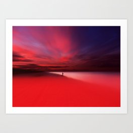 Fisher In Red Art Print
