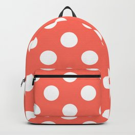 Bittersweet - pink - White Polka Dots - Pois Pattern Backpack