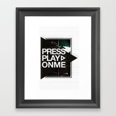Pressplayonme #2  Framed Art Print