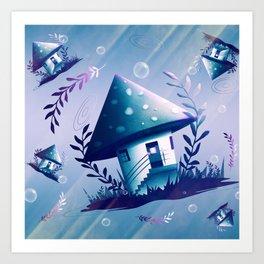 Magic Mush Room - Pattern Art Print