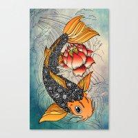 koi Canvas Prints featuring Koi by Tuky Waingan
