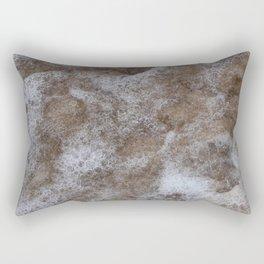 Sea Foam - Abstract Coastal Art Rectangular Pillow