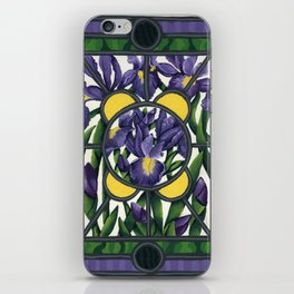 Stained Glass Irises iPhone Skin