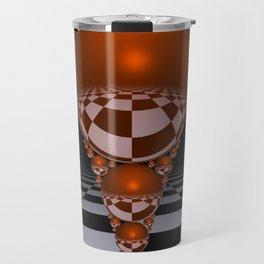 Apollonian gasket - orange Travel Mug