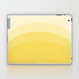 Four Shades of Yellow Curved Laptop & iPad Skin