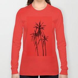 Palm Trees - Blush Cali Summer Vibes #1 #decor #art #society6 Long Sleeve T-shirt