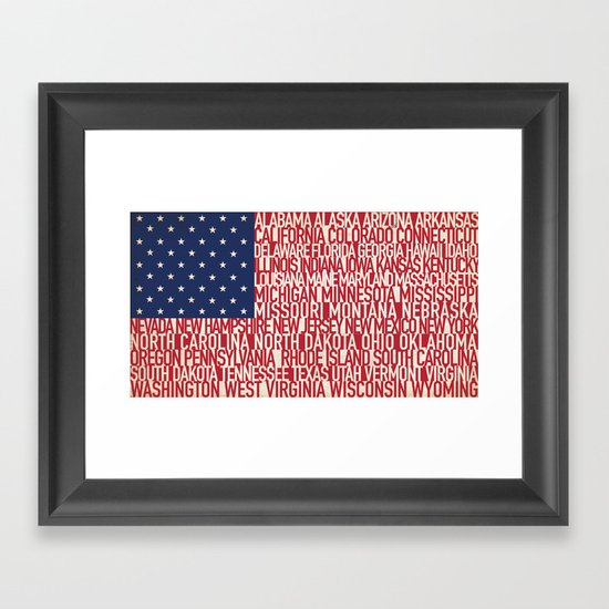 American Type Flag Framed Art Print