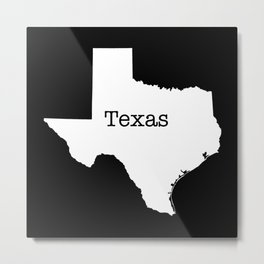 Cartography of the famous State of Texas Metal Print