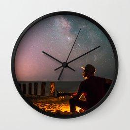 Guitar Milky Way Galaxy Wall Clock