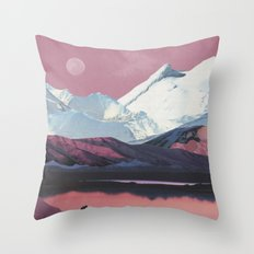 Bruised Landscape Throw Pillow
