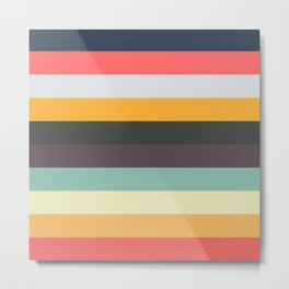 New York Stripes - Colorful Abstract Striped Pattern Metal Print