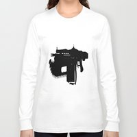 gears of war Long Sleeve T-shirts featuring gears of war lancer silhouette by jjb505
