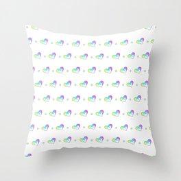 Drippy Heart Pattern Throw Pillow