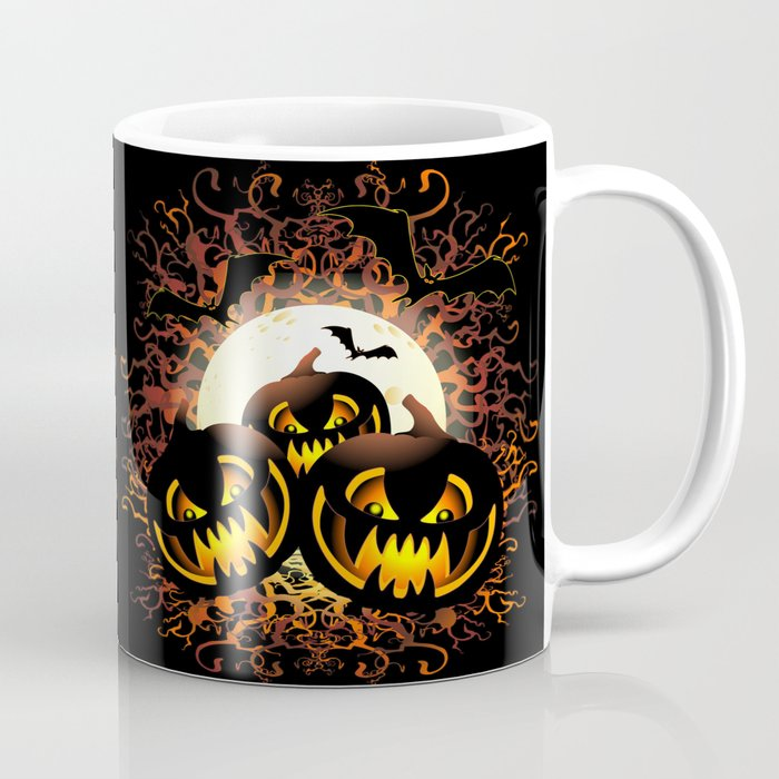 Black Pumpkins Halloween Night Coffee Mug