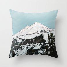 Turquoise Sky Mt. Baker Throw Pillow