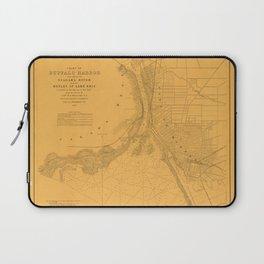 Map of Buffalo 1856 Laptop Sleeve
