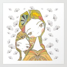 Floral Motherhood Art Print