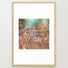 Strains of Silence by Bethany Kaczmarek   Quote 2 Framed Art Print