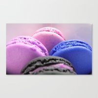 macaroons Canvas Prints featuring macaroons by Whimsy Romance & Fun