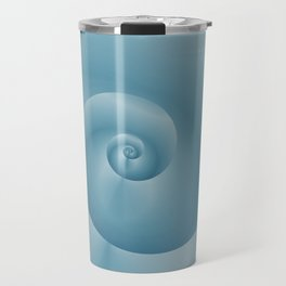Blue Spiral: digital art Travel Mug