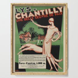 Affiche lys - chantilly. circa 1928  Serving Tray