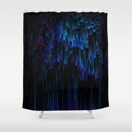 Night Rain Shower Curtain