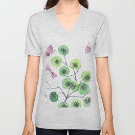 a touch of summer fragrance - white background Unisex V-Neck