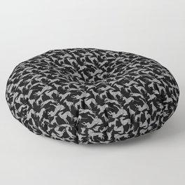 Greyt Silver Glitter Greyhounds Floor Pillow