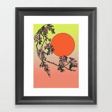 Pugry Blossom Framed Art Print