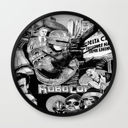 'Robocop 1987' Retro Style Movie Poster Wall Clock