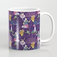 degas Mugs featuring The Art Museum in Purple by Valerie Jauma