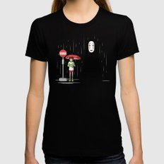 My Lonely Neighbor X-LARGE Black Womens Fitted Tee
