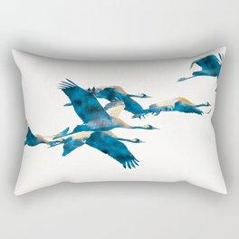 Beautiful Cranes in white background Rectangular Pillow