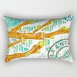 Branch of a chestnut tree in Winter Rectangular Pillow