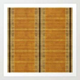 """""""Simple Oriental Curtains (Orange)"""" Art Print"""
