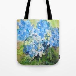 Blue Hydrangeas Tote Bag
