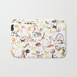 A cat mess Bath Mat