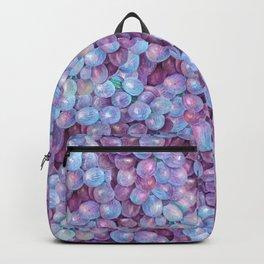 Blue Purple Grape Pattern Backpack