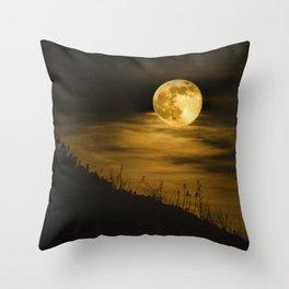 Caught Me a Super Moon Throw Pillow