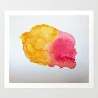 Skull Splotch Art Print