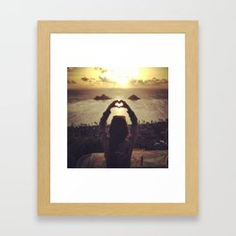 Love & Light Framed Art Print